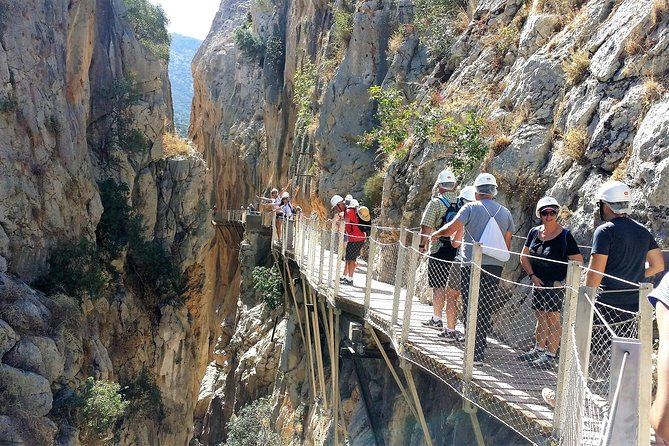 El Caminito del Rey is a fascinating trekking activity located in a magical place. You will be impressed by its walkway, by its cliffs, by its canyon & by the hanging bridge.<br><br>You will pass by Gaitanejos and Gaitanes cliffs, by the Hoyo valley etc. Come and discover this awesome place with full of history.
