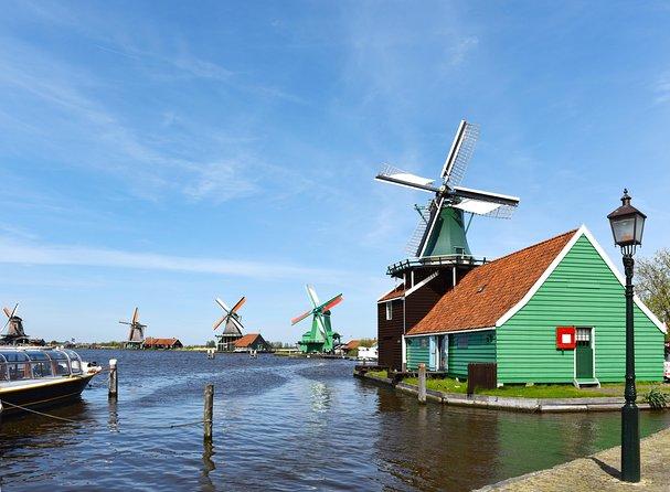 Combo de Amsterdã: Jardins Keukenhof e vila dos moinhos de vento de Zaanse Schans, Amsterdam, HOLANDA