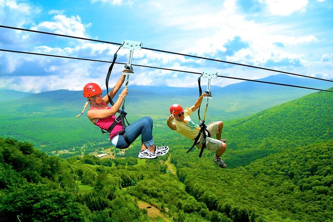 You're safely attached with climbing gear to the cables by our professional and friendly guides who explain all you need to know to have the time of your life on our 10 zip lines, the longest one being 450 meters long!<br>• An adventure that will have you flying over the copious mountains in Juana Vicente. Experience a maelstrom of emotions as you glide over breathtaking landscapes in the small island of Cayo Levantado.<br>• Descend throughout 20 platforms and 10 zip lines. Scour fun and challenging distances, reaching between 85 and 450 meters.<br>