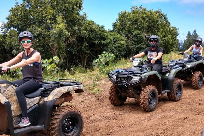 This is an hour and a half ATV tour that takes you to the top of the valley to view the waterfalls from a distance. Then you will go all the way down to the ocean and ride alongside the coastline. Spectacular views.