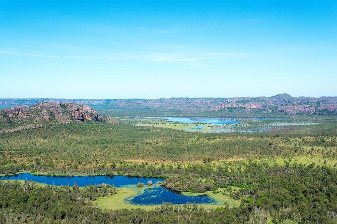 Best seen from the air, enjoy aerial views over the World Heritage Listed Kakadu National park on a 30 minute scenic flight departing from Cooinda Lodge.  <br><br>Cooinda is located very near the South Alligator River and adjacent to the world acclaimed Yellow Water Billabong. What you don't see from the ground is Yellow Water feeding into the tidal South Alligator River and the amazing colour variations of many more floodplains as the river winds seaward.  <br><br>Kakadu is a region of changing landscapes, impressive land forms, dynamic ecosystems and rugged wilderness. To gain a real appreciation and see untouched lands, a scenic flight is a must.   <br><br>You will enjoy unique views as you explore Australia's largest National Park.  <br><br>This flight includes recorded and live commentary from your pilot as you fly through these spectacular ancient lands.
