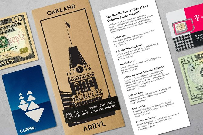 Do you want to land in Oakland and hit the ground running? ARRVL packs are designed to save you 60 minutes at the airport by allowing you to skip the long lines for SIM cards, transit passes, and currency exchange.<br> • We ensure you get connected with our SIM provider<br> • We eliminate the need to navigate confusing ticketing machines<br> • We emphasize the best places to visit while you're in town!<br><br>We guarantee our products so if you have any issues, you can always get a replacement product or a refund.<br><br>Our Oakland City Pack comes with the following <br> • 21 Day SIM Card with Unlimited Data (2gb at 4g speed) <br> • $25 preloaded transportation card <br> • Curated recommendations - updated monthly <br><br> Each package will be delivered to you in the OAK arrivals terminal