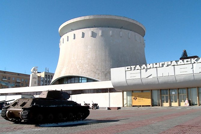 The tour will take you to the most memorable places devoted to World War II.<br>Located in a historic place, the panorama-museum 'Battle of Stalingrad' consists of 8 exhibition halls that are home to more than 3500 exhibits. Except for this, the museum is home to the exposition of Soviet military equipment.<br>Another museum object is a destroyed mill standing next to the museum building. The ruined mill has become a symbol of fierce fights that took place in Stalingrad and for that reason was kept as a memory for future generations.<br>One more site is a 4-storey apartment building in the center of Volgograd. In this building a group of Soviet defenders under the command of senior sergeant Y.F. Pavlov and Senior Lieutenant I.F. Afanasyev were under siege for a period of 58 days.<br><br>• Guaranteed skip-the-line entrance