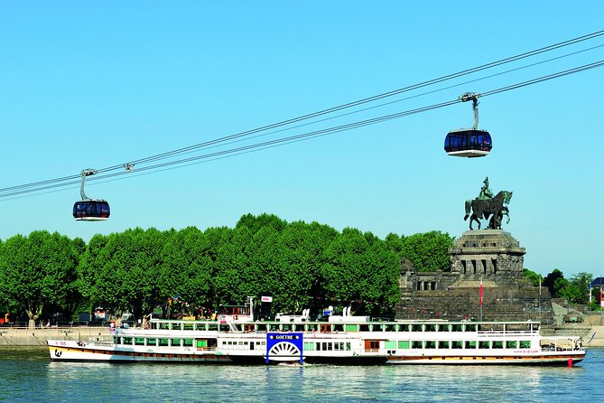 Glide along the Rhine River on a round-trip cruise from Koblenz to St Goare that passes Loreley Rock, plus visit Ehrenbreitstein Fortress, too! Ride the Koblenz cable car to the fortress before or after your cruise, and then soak up the sights of the Rhine Gorge, a UNESCO World Heritage Site, as you meander down the river, passing vineyards, fairytale castles and the imposing Loreley Rock. Spend time at leisure in the quaint village of St Goare before returning to Koblenz.