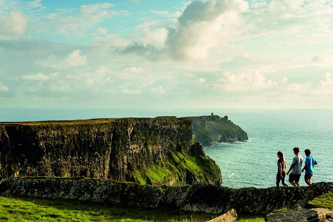 Depart Cork for a day trip to the Cliffs of Moher, one of Ireland's most popular natural attractions. This guided tour also includes a visit to the city of Limerick, checking out the lunar-style landscape of the Burren, and stopping by medieval Bunratty Castle.