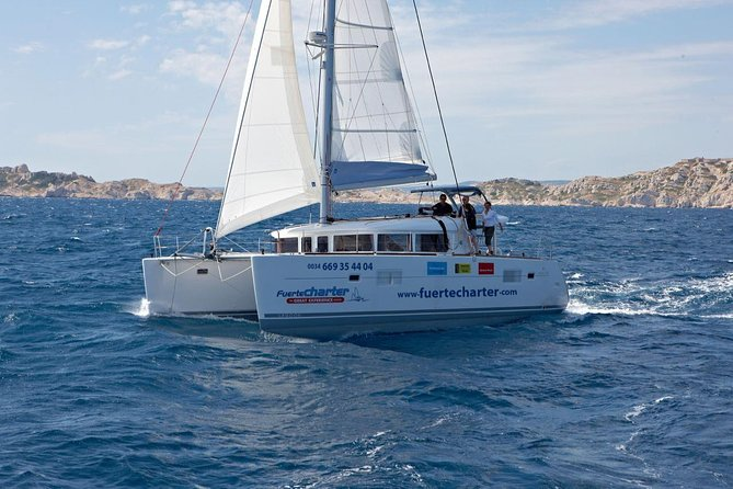 Private Catamaran trips to Lobos Island and Lanzarote in Lagoon 400, Fuerteventura, Spain