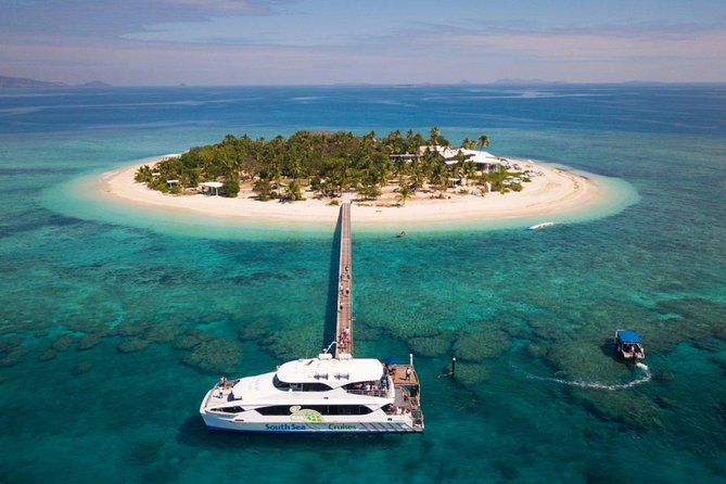 Your day pass includes return coach connections and vessel transfers. <br>Malamala Island is situated on a little slice of heaven, just a short 25-minute vessel transfer from Port Denarau. Picture powder white sands and crystal clear water like a scene pulled straight from a postcard. Small enough to stroll barefoot around the island in 20 minutes, large enough to feel like your deserted paradise. Malamala Beach Club is fully equipped with everything you need to switch off, unwind and chill out.<br>Eat & Drink <br>Sunlight and breezy, our dining areas cater to anything from poolside snacking to relaxed seated dining. Inspired by our chefs' rich experience throughout the South Pacific, each dish is balanced, nourishing and full of fresh Pacific flavours. Expect small bites through to substantial sharing platters, with a few treats to satisfy your sweet tooth. The food menu is complemented by a selection of imported wines, beers and handcrafted tropical cocktails.