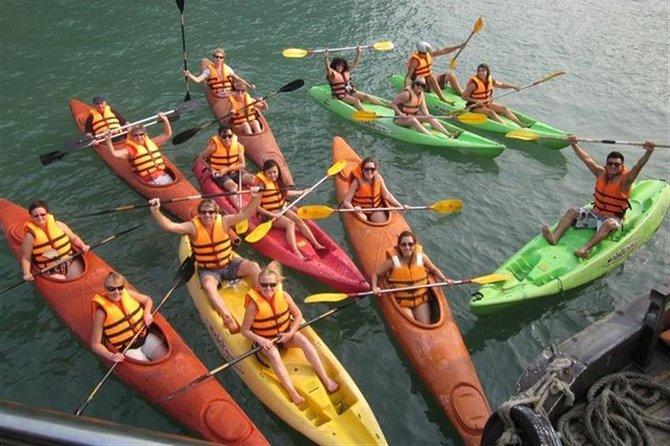 Ha Long Bay Full Day Tour : Kayak,Cave Explore,Swimming from Tuan Chau Island, Halong Bay, VIETNAM