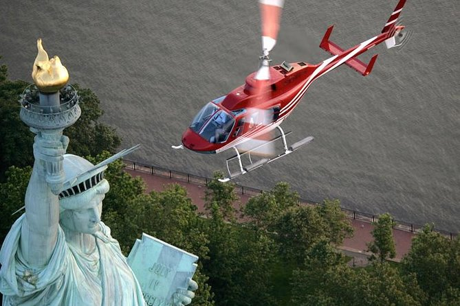 Feel the history while flying over true American treasures on this helicopter tour. Hop aboard and take to the sky to fly over Ellis Island, Governors Island, and the Statue of Liberty, which has served as a symbol of freedom for millions of immigrants.<br><br>You will also see the South Street Seaport from the sky, cruise by the Brooklyn and Manhattan Bridges, and see the famed Wall Street area on this much-loved New York helicopter tour.