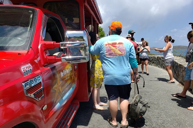 """• Star Fish Tours & Taxi's Four Hour Island Tour is a combined historical and beach tour that last for four hours. <br> • We meet you at the Loredon Boynes Ferry Terminal with a sign that says """"Star Fish Tours & Taxi Services"""". <br> • Your safari will also have """"Star Fish Tours & Taxi Services written on them. <br> • You get to experience not just the natural beauty of St. John but also learn of our history, culture, and visit historical ruins. <br> • Our tour guides are friendly, local and humorous! <br>"""