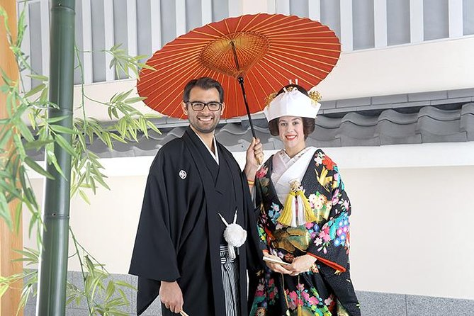 "Experience high-quality traditional Japanese style wedding and photo shooting. Option to set up the ""real"" wedding with shinto priest is available. You will also enjoy authentic kaiseki dinner at traditional restaurant that has been long established for over 100 years. <br><br>This will surely be a memorable experience for every couple."