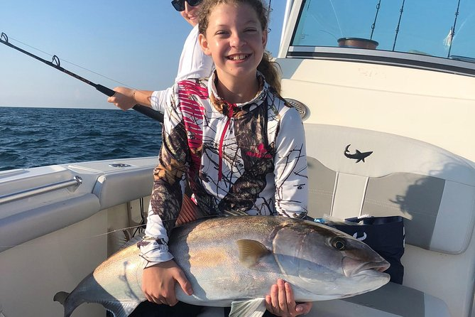 Alabama has thousands of artificial reefs off shore which hold Red Snapper, Grouper, Cobia, Vermillion Snapper, Lane Snapper, Triggerfish, Amberjack and a variety of many other species. Red Snapper season is the most sought after time of year for fishing in OBA<br><br>This trip is guaranteed to excite even the most avid angler! Children and Teens will be thrilled when they hook up on a fish that may be larger than them! This is also a great learning experience for new anglers, providing knowledge about the different types of tackle, bait and gear as well all the different species of fish the Gulf of Mexico has to offer. <br><br>You will most certainly experience the beauty of the outdoors only seen by boat. The Gulf is plentiful with Dolphins, Sea Turtles, Sharks and a variety of species sure to keep you entertained all day long. <br><br>Blue Water Charters is the way to go! We marry premier service with this productive fishery to bring you one of the best saltwater experiences in the Gulf of Mexico!