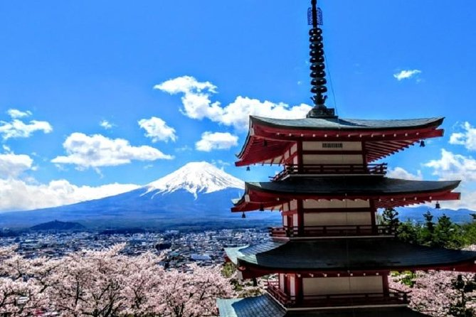 This is a day trip around Mt. Fuji which is one of World Heritage Sites and said to have the most beautiful figure in the world as an independent mountain. You can enjoy the scenery with many other sites around it in each season, taking the public transportation. <br><br>You can enjoy the different Mt. Fuji scenery at each site, for example, with a five-story pagoda, a lake and a town, and in each season, for example, with cherry blossoms, fresh green leaves and turned red leaves. A lunch restaurant near Lake Kawaguchi has a unique way to cock. They grill meat on a plate cut of the lava field in front of guests and it's said to be very healthy as the extra fat of meat drops off through the holes in the plate.<br><br>See inclusions and excursions for what is included in the price of this tour.<br>