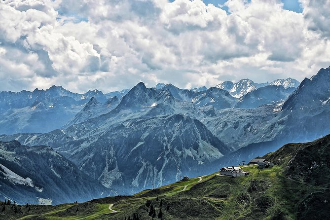 Your guide is vaccinated twice !<br><br>Great Alps Tour from Lake Constance to the glaciers of the Silvretta <br><br>Enjoy a beautiful day trip on the Austrian panoramic Silvretta High Alpine road <br><br>With a guaranteed window seat, you can sit back and relax as you enjoy the incredible views. <br><br>Your professional driver will provide expert commentary along the way.<br><br>Explore the following attractions in just one day :      <br> • Montafon <br> • Silvretta Alpine Road <br> • Bihler Hoehe <br> • Silvretta Reservoir <br> • St Anton