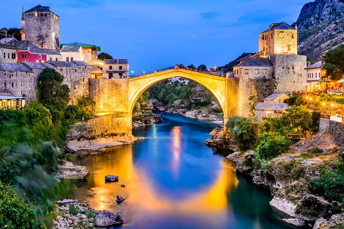 Exclusive private tour to Međugorje and Mostar organized only for you with a possibility of changing the itinerary according to your wishes and needs.This is a perfect opportunity for those who are still terrified by Covid-19 virus situation. Book a personalized private tour for a special price this season, visit beautiful places with your relatives and friends and feel safe with us.<br>Mostar is a magnificent small town with a historic bridge that represents a true connection between the Eastern and the Western culture. Take a walk across the historic Old Bridge, admire the locals jumping into the river and taste traditional food. Other stop on the tour is Medugorje, a great spiritual and pilgrimage place, where you can relax and find your inner peace.<br>