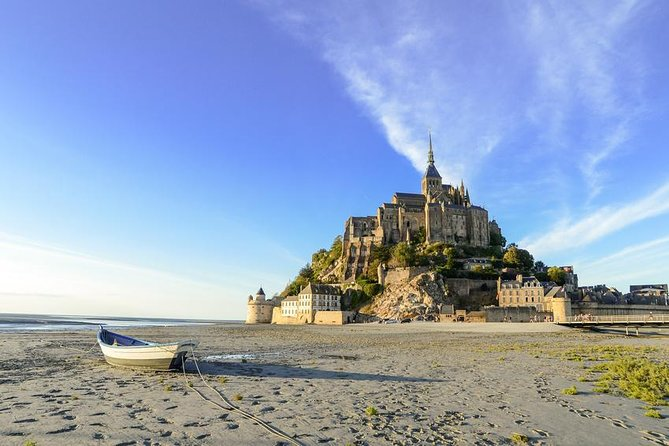 On this private day trip you will have the chance to discover the islet, celebrated for its Benedictine abbey, with its small houses and shops on its lowest level. The site of Mont Saint-Michel is crowned by the abbey's church, about 240 feet above sea level. Your local driver-guide will give you a private guided tour of the village and the abbey church. There will also be some free time before heading back to Rennes.