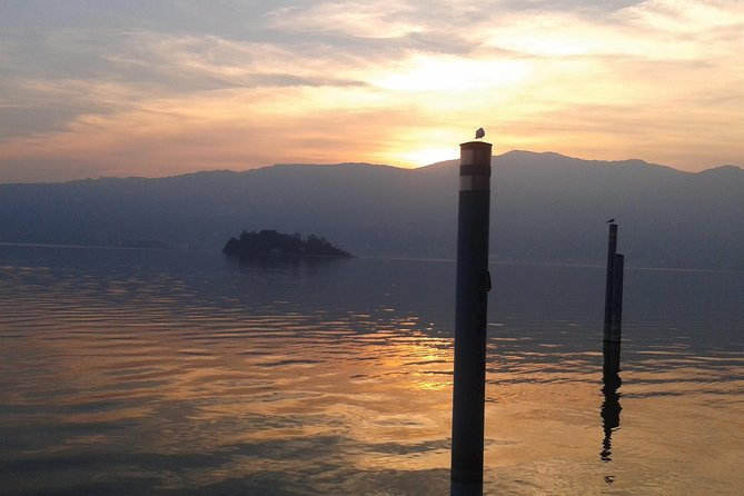 Sunset private cruise with a tour guide, Lago Mayor, ITALY