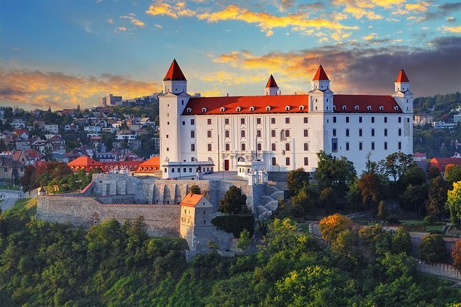 If you only have few hours to see as much of Bratislava as possible, you need this tour - Bratislava City and Castle Private Tour in 3 hrs. It is a thorough but leisurely-paced tour of most of Bratislava's major and minor sites, such as Bratislava Old town, Bratislava Castle, Slavin War Memorial and The Blue Art Nouveau church of St. Elizabeth. This is a private tour where you'll have entertaining local guide, friendly driver and comfortable minivan with A/C available just for you entire tour. Panoramic drive is included to have an opportunity to see also Presidential Palace, Slovak Radio Building (upside-down pyramid) and most importantly, to get stunning views of the city from the Castle Hill. We know your time in Bratislava is precious and that you want to get the best of the city while you're here.
