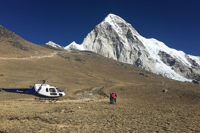 Experience the panoramic view of Everest and Himalayas and land at the Everest base camp Kalapather 5500 meters within 4 hours PRIVATE helicopter charter flight. The experienced pilot explains the Himalayan adventure activities and its beauty. One hour stop at the Hotel Everest view for getting closer to nature and fell the Himalayas more. Also on the way see the famous Lukla airport where trekkers land by using small aircraft. Includes one free airport pick up and drop for helicopter flight. NOTE- WEIGHT LIMIT IS 250KG- passengers total weight.<br>Itinerary: <br>5:55 AM: Pick up at Hotel<br>6:25 AM: Check-in <br>7:00-8:00 AM: Fly to Lukla <br>8:10 AM: Fly to Everest <br>8:30 AM: Rounding over the Everest Base Camp & Landing at Kala Patter. Get off the ground, enjoy the lifetime experience with the great Himalayas, take Pictures <br>8:45 AM: Fly to Everest View Hotel. Enjoy the hot Breakfast in front of amazing mountain views. <br>9:30-11:30 AM: Fly back to Kathmandu <br>12:45 PM: Transfer to hotel