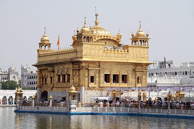 You'll visit the Golden Temple, the spiritual center of the Sikh faith; the Jallianwala Bagh Memorial, an important monument dedicated to the martyrs of the Jallianwala Bagh massacre in 1919; the Durgiana Temple, which sits in the middle of a sacred lake, and an evening visit to the India/Pakistan border for the traditional changing of the guard.