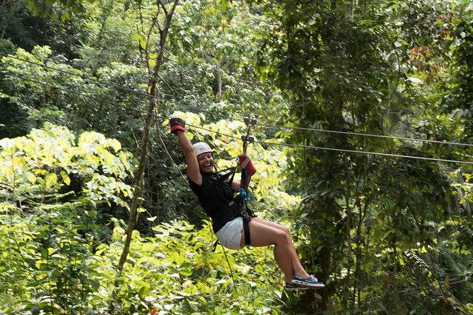 Experience the excitement of a world-class zip line in the Caribbean. Zipping through the treetops in the middle of the tropical rainforest delivers a rush that would leave even Tarzan breathless. Trained guides take you on the ride of your life on a course designed for maximum thrill and exposure to the best views of the rainforest. Treetop Adventure Park Canopy Tour consists of 12 zip lines, including the island's longest, highest and fastest. The views are magnificent, so bring your camera!