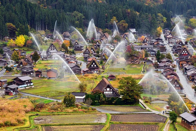 On this tour you'll be transported by coach from Nagoya to see UNESCO world heritage village of Shirakawago and stroll through the historical town of Takayama.