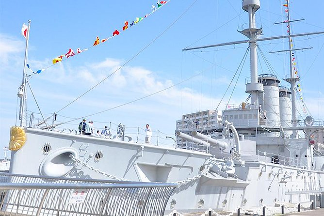 Take a cruise around Yokosuka's Naval Port and eat Navy Curry! <br><br>Yokosuka Navel Port has developed as a navy port since Japan opened its doors to the world about 160 years ago, after a 200-year isolation period. <br><br>Today the Japanese navy and the US navy share the port, so the area is full of battleships. On this tour you will set off on a cruise around the port where you can enjoy the unusual sight of a large number of gigantic battleships, including a battleship the length of the height of Tokyo Tower! <br><br>The cruise announcements are only made in Japanese, but you will have you otomo tour guide to translate for you. You will also explore the battleship; Mikasa, which fought in the Russo-Japanese war. Do not forget to taste the speciality; navy curry!