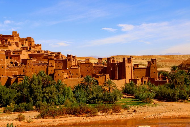 "This full-day, private guided tour in and around the desert capital Ouarzazate gives you an overview of the film studios and different movie sites of the area. Plus, you'll have the opportunity to visit two ancient kasbahs without hassle. Tour the famous Aït Ben Haddou-Kasbah and Ouarzazate, known as the ""Hollywood of Morocco""."