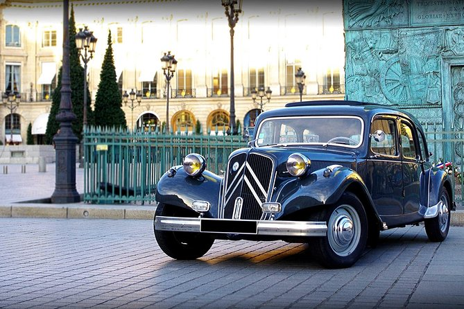 See Paris' heritage in vintage luxury open roof french Citroen. Explore the city during an unforgettable moment, and enjoy the most of it, by cruising around in your iconic Citroen Traction with retractable sun roof. <br><br>Definitely the BEST WAY to see Paris's most beautiful sights, such as Champs-Elysées, Eiffel Tower, Louvre museum, village of Montmartre with Le Sacré Coeur Basilica and Moulin Rouge cabaret, passing by the Latin Quarter, with Notre-Dame Cathedral and many other famous monuments! <br><br>From the most iconic monuments and landmarks, to the hidden gems and the charming narrow streets of Paris. Get insights tips during your tour from your knowledgeable guide! <br><br>Sightseeing the city with elegance, sitting at the back of your fully restored classic french Citroën car. Very comfortable leather seats with a lot of space at the back. You will be seduced all the way through. <br>After booking, the supplier will coordinate the tour time based on when the request comes in.