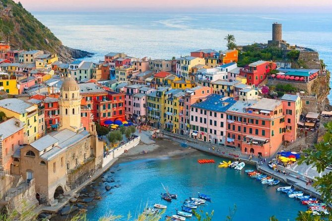 The best of Cinque terre tour<br><br>duration 9 hours<br><br>from 08.00am to 5.00pm<br><br>vehicle Mercedes minivans 8 pax + driver<br><br>sea port of Livorno