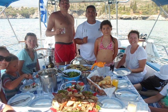 Private Full Day Sail Cruise from Kalamata Koroni Kardamili Stoupa Including Lunch and Drinks, ,