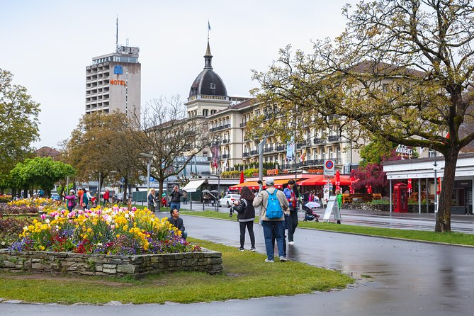 """Enjoy a city tour in Interlaken and a short excursion to the local hill with your private tour guide, just you and your guide! Enjoy a relaxed walk through the main street in Interlaken and enjoy the fantastical view to the mountains from the meadow in the middle of the city center. We'll pass the Casino with it's historical building and we'll cross the Aare river, which connects both lakes. Get same information about developping tourism in Interlaken from your private tourguide. After spending the time in Interlaken, the cable car takes us up to the local peak """"Harder"""", from where you have a spectacular view to the lakes and the high alpine mountains."""