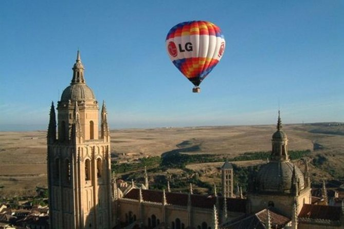 See the sun rise around you on an exciting hot-air balloon ride over one of Spain's gorgeous medieval cities:  Segovia! Take to the skies, flying above Segovia Aqueduct; the views are worth the early start! After an hour in the air, touchdown to enjoy a sumptuous Spanish brunch with a glass of cava while receiving a souvenir photo, video and flight certificate. Make your own way to and from the launch field or upgrade to include round-trip transport from central Madrid.