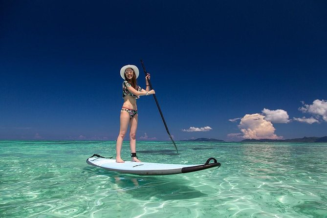 Explore the blue coral ocean by SUP under the tropical sunshine. We will land on the beach on the other side of the bay for you to explore and have tea break. The tour duration is about 2 hours.