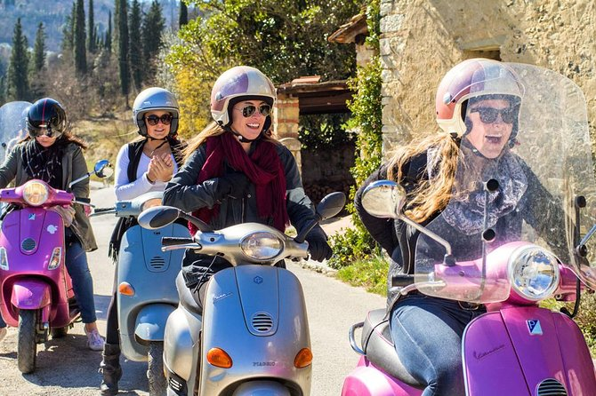 Escape from the crowded streets of the city to see life as a local as you zip around the stunning Tuscan countryside on a REAL Vespa (with automatic gears)! The tour is perfect for all levels as we always begin with a lesson so that beginners may get the hang of driving. After the lesson, the real fun begins. We will zip through the winding country roads and stop for pictures along the way. You won't want to forget your camera on this trip - the sights are incredible and you will be in the heart of the Chianti region! After our picture break we will continue driving until we return to a private Tuscan winery to learn a little bit about how local wine and olive oil is created. With this tour you won't feel like just another tourist, you will get to explore Chianti like a real local!