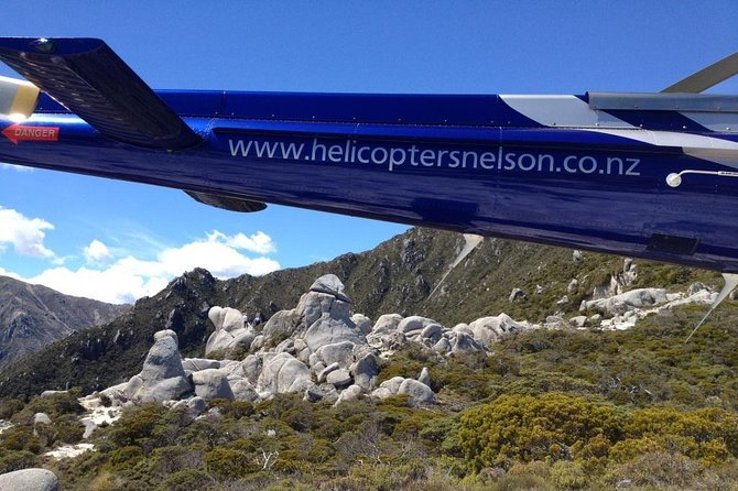 Included in this adventure<br> • Approximately 90 minutes flight time exploring the Kahurangi National Park <br> • Two-way communication between you and your pilot <br> • 2 x Mountain landings <br><br>SIGHTS:<br> • 2 x Lord of the Rings film locations! <br> • Unique land forms, habitats, plant communities and wildlife <br> • Native bush <br> • Breathtaking mountain landscapes