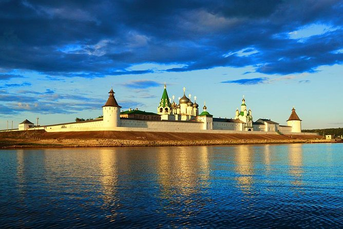 Makarievskiy Monastery is situated on the left shore of the river Volga, 100 km from Nizhniy Novgorod. The Monastery was founded in 1435 by Saint monk Makariy, a native of Nizhniy Novgorod. The ensemble of the Monastery is splendid even today. The centre of the Monastery ensemble is Troitskiy Cathedral was built in 1658. This is a five-headed six column temple. The main building of the Monastery looked like Spasskiy Cathedral in the Kremlin of Nizhniy Novgorod (1652). Uspenskaya Church and monastic refectory of the Makarievskiy Monastery, built in 1651 is a vast two-stored building. Makarievskaya Church (1808), was built in the style of classicism. Walls and towers made of white stone (1662 - 1667) are a bright sample of Old Russian defence architecture. On the four corners of the Monastery, there were round towers. From the sight of the river, there was the main entrance — Saint Gate with the Church of Archangel Michael above.<br><br>• Guaranteed skip-the-line entrance
