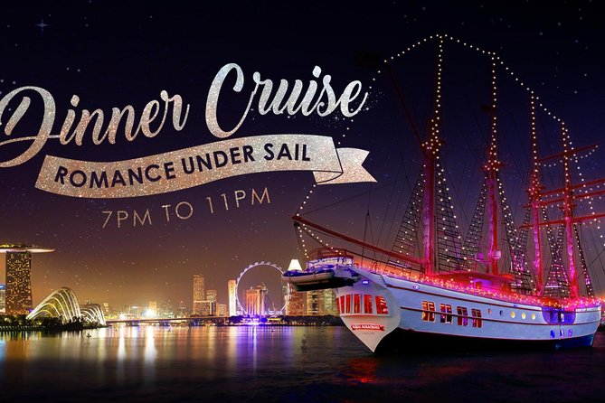 Be it a romantic date, a special celebration or quality time with family and friends, our Sunset Sail/ Dinner Cruise takes you on an unforgettable journey that you'll share forever on-board the regions only luxury tall ship. Your superyacht experience begins as we sail out from Resorts World Sentosa (RWS) and head for the tranquility of Singapore's calm port waters. As the crew scale the masts to set sail, the sea folds around your own private table on the upper deck with the traditional rigging of this 4-mast 22-sail luxury Tall Ship towering overhead, creating a truly unique ambiance like no other! With an air conditioned Grand Salon on the main deck, two premium bars, a flying seat and carefully selected entertainment, our harbour cruises have all the ingredients for a perfect evening onboard our amazing superyacht.