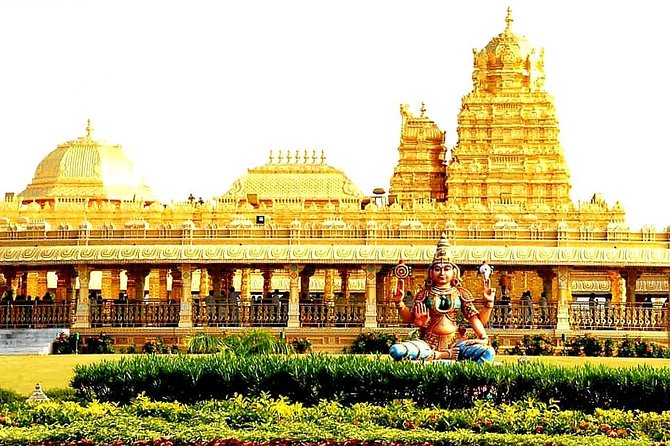 Sri Lakshmi Narayani Golden Temple in Sripuram is one of the largest Golden Temple in around the world, All the gold work was done by artisans specializing in temple art using gold of over 1.5 tons with every single sculptures and architectural work was manually created. Let book this tour experiences it.