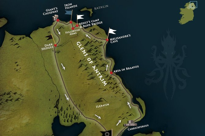 Recorridos Juego de Tronos: Islas de Hierro de Belfast, la Calzada del Gigante y el puente de cuerda, Belfast, IRLANDA