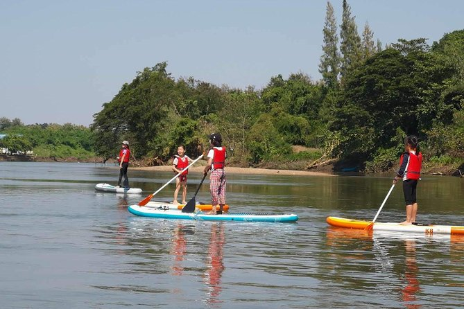 You will learn all the basic strokes of stand up paddleboarding and we guarantee that you will be able to stand within the first half an hour, all on the beautiful, peaceful River Kwai