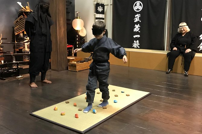 Learn the history of traditional swordsmanship with roots that can be traced back more than 490 years. <br><br>Licensed interpreter/trainer(s) provides top-notch, real time translation.<br>Our workshop is for those who want to know more than just have fun.<br><br>During this hands-on ninja experience, you will start with meditation in ninja outfit, and learn 3 entry level techniques (ninja star, blowgun and stealth steps) with your ninja instructor <br><br>Our shinobi-samurai philosophy termed Ninshido is introduced in a dynamic and mindful way.
