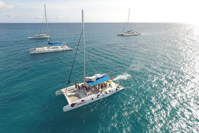 We're taking you to the Super-Star of off-shore islands in the Dominican Republic. Think sun, sand, booze, boats and bikinis! You can thank us later but for now let us tell you about the ridiculously beautiful Saona Island.<br><br>We'll hit the Caribbean Sea on a speedboat and slowly cruise you back to the mainland on a spacious catamaran. Oh, there's also music, animation and open bar. This is the Caribbean, folks. It's an all-inclusive, full-day outing and you need some time away from your Punta Cana resort. You get the boat, the open bar and the food. Oh, and we pick you up and drop you off at your lobby. That is easy!