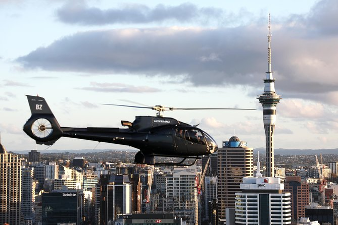 A scenic helicopter flight is a perfect way to view this beautiful region. Auckland has 55 volcanoes whose cones and lakes are best seen from the sky and landmarks such as the Sky Tower and the Harbour Bridge look spectacular from the air. The Twin Coast flight highlights the contrasting white and black sand beaches of the East and West coasts and the patchwork of orchards and vineyards below. As you look down on the Waitemata Harbour you will see why Auckland is known as The City of Sails.<br><br>Choose 1 of 3 options on this exclusive scenic helicopter flight: Auckland City Spectacular (20 mins), Twin Coast and City (35 mins) or the Auckland Grand Scenic Tour (45 mins) covering the contrasting East and West coasts, Auckland City and wonderful Waiheke Island. Allheli-tours offer breathtaking aerial views, allowing you to capture memories and photos of a unique part of this beautiful country.<br><br>Your expert, knowledgeable pilot will be your guide throughout the flight.