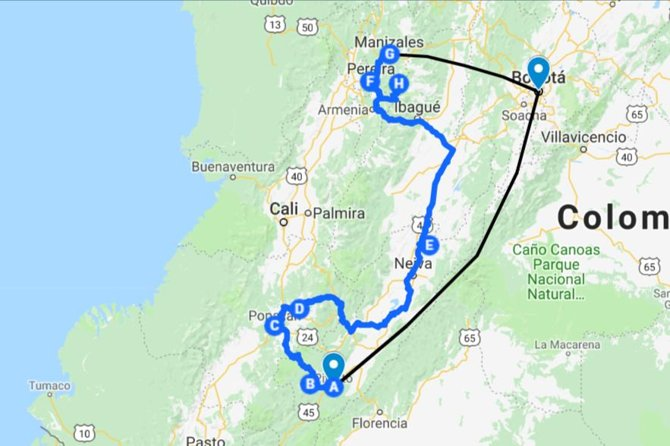 Green Colombia - 17 days - Travel Itinerary, Bogota, COLOMBIA