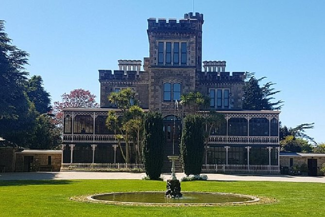 """We are Dunedin's ONLY locally owned and operated daily Larnach Castle tour, ensuring that your money stays inside of Dunedin rather than go to out of town corporate businesses. <br><br>We are also the longest of the tours going to Larnach Castle which means you get more time to explore the Castle and grounds. Included as standard is a comprehensive tour of Dunedin City. We will tell you all you will ever need to know about this NZ icon and the backstory that makes it so interesting.<br><br>Our knowledge of Larnach Castle is unsurpassed. Your tour is both visually stunning (weather dependent) and memorable.<br><br>Your bus the """"Eliza Jane"""" is extremely comfortable and has leather reclining seats and air-conditioning. Groups are never more than 13 people + driver/guide.<br><br>NOTE: Cruise Ship passengers NZ$20.00pp return transfer is PAYABLE TO THE DRIVER for Port transfers departing from Port at 10.00am. (Port Chalmers is 15km from Dunedin).<br>Octagon pick ups on Cruise Ship days are at 10.30am. <br><br>"""