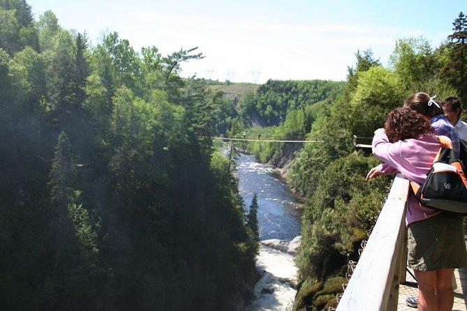 Entrada a Canyon Sainte-Anne, Quebec, CANADA