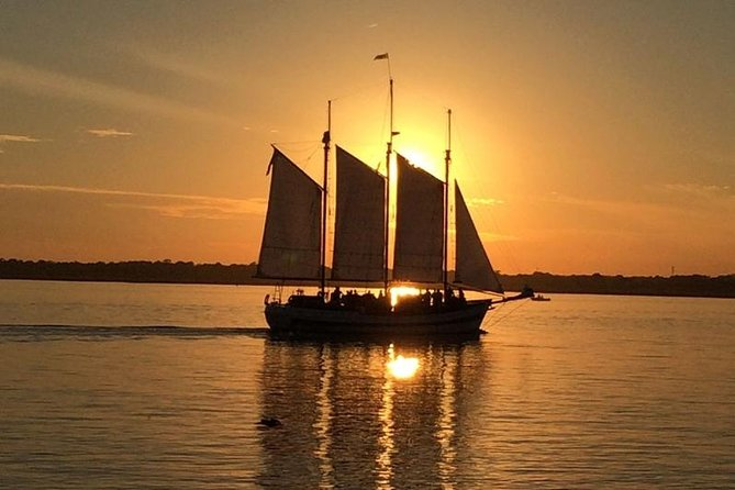 Experience sunset on Charleston Harbor with a 2-hour cruise on a classic 84-foot tall ship. Witness a kaleidoscope of colors over one of the oldest cities in the country, as the sails are hoisted and the ship sets out for an evening on calm waters. With your captain and crew, pass some of the most historic sites in America. Alcohol and soft drinks are available for purchase on board.