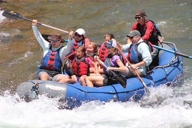"""There is nothing """"economy"""" about this amazing rafting trip.Come and adventure with the professionals and experience the difference.For a quick, action-packed adventure, this splash and dash package is the perfect way to get in, get wet and get going to your next adventure. All companies put in at the same spot and most take out at the same spot as well. An unforgettable experience with the best guides in Durango, this 2-hour excursion door to door with about 1 hour on the river and is great for the whole family and comes with the option to purchase photos to preserve your memories."""