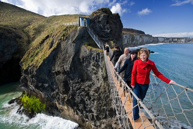 See Northern Ireland's only UNESCO World Heritage Site and embark on a unique guided trip from Dublin. Visit thespectacular sight of Giant's Causeway and venture across the Carrick-a-Rede rope bridge. On this tour you will also visit the Dark Hedges and Belfast.
